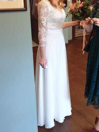 Suknia ślubna, kolor ivory, rozmiar 38, ślub boho, rustykalny