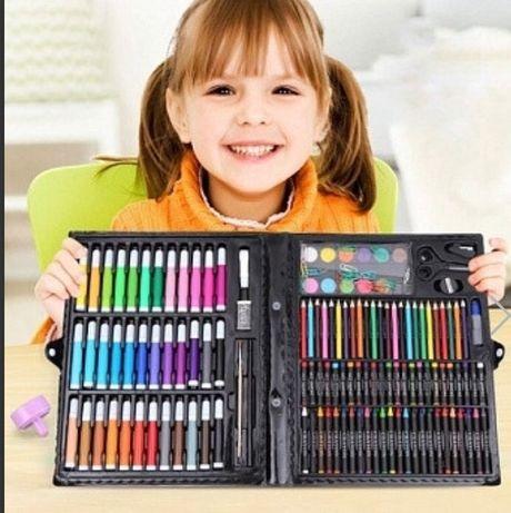 Большой набор для рисования, фломастери, краски, карандаш, рисовать