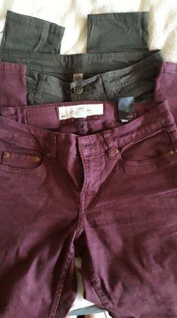 Zestaw spodni H&M Primark 34/36 nowe burgund butelkowa zieleń