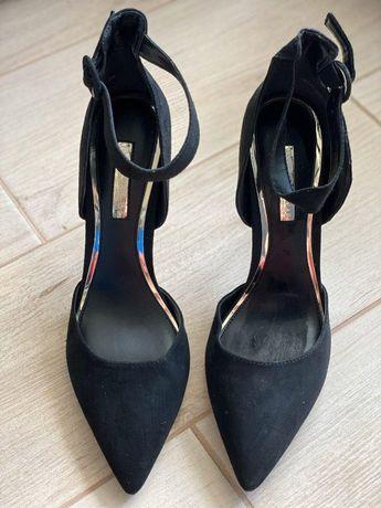 Туфли открытые босоножки замш miss selfridge