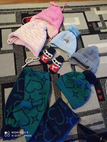 Детские  шапки, зима-весна