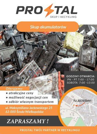 Skup akumulatorów  CENA OD 2,6 NETTO TYLKO HURT !! Odbiór od klienta .