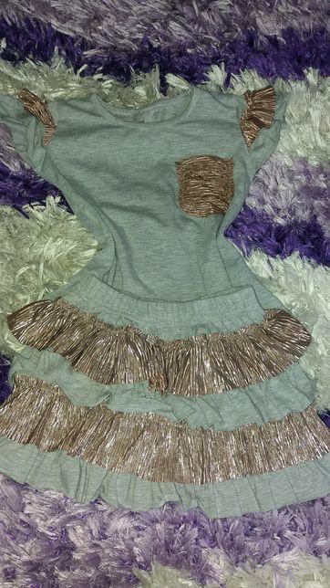 Śliczne ubranka 98-104 na dziewczynkę przedszkole stan bdb