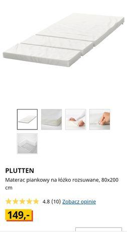 Materac piankowy Ikea Plutten na łóżko rozsuwane