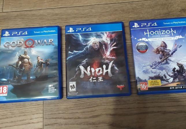 Игры для PS4 ( Nioh, Horizon, God of war 4)