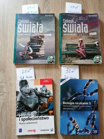 Sprzedam podręczniki j. Polski, historia