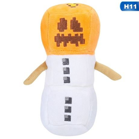 Снеговик Майнкрафт мягкая игрушка 20 см