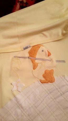плед одеяло для выписки в коляску Aziz bebe 76 см*76 см