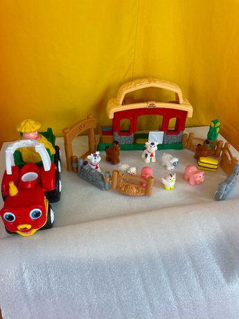 Farma interaktywna Fisher Price Little People oraz muzyczny traktor