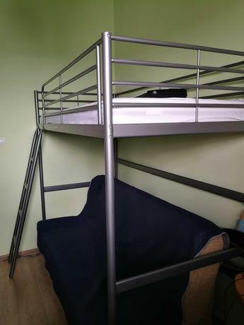 Rama łóżka na antresoli (Ikea Svarta)