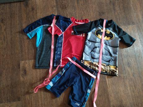 Футболка шорты для купания плавки защита солнца ультрафиолет 6-7 лет