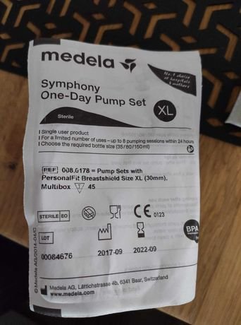 Medela Symphony one day pump set zestaw do laktatora XL 30mm