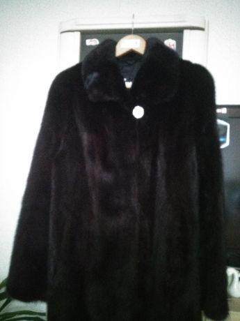 Норковый полушубок /Италия, цвет черный графит, размер 46-50
