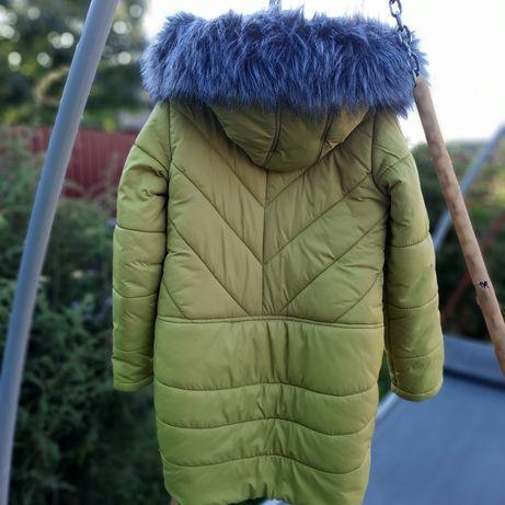 Курточка для дівчинки 5-8 років зимова на овчинці