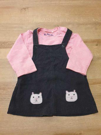 Sukienka i bluzeczka komplet dla dziewczynki 5-10-15 r. 68