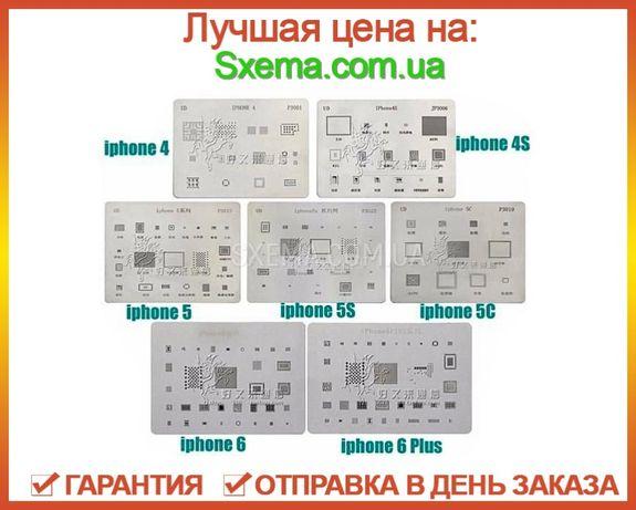Bga трафареты для IPhone 4, 5, 5C, 5S, 6, 6plus ребоулинг микросхе