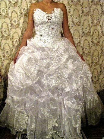 Свадебное Платье, Весільна сукня, сверкающее, блестки, стразы, корсет