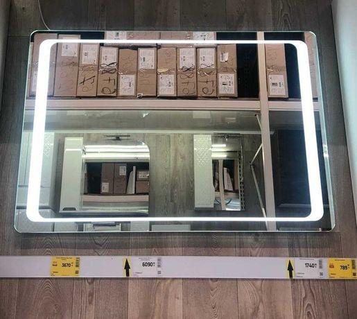 Продам зеркало с LED подсветкой 75*100 в ванную комнату Новое!