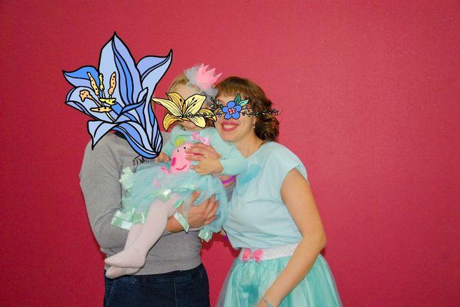 Family look новогодний бирюзовые фатиновые юбки 92 день рождение пеппа