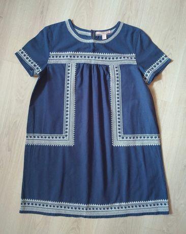 Платье из льна с двухсторонней вышивкой, FOREVER 21 (США)