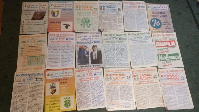 Lote 33 Boletim Informativo Totobola - Anos 90