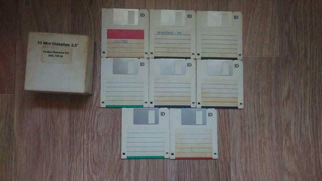 """Дискеты 3.5"""" 2HD 1.44MB floppy disk 8 шт."""