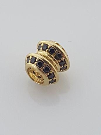 Złoty element charms na bransoletkę Pandora 14k.Nowy (281)