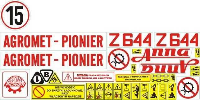 Naklejki Agromet Pionier Anna Bolko Z644 Z 643