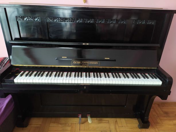 Pianino Gebr Zimmermann Leipzig