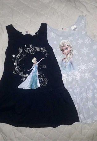 2 sukienki z Anna i Elsa