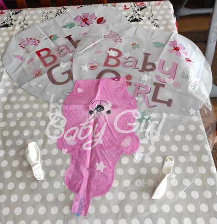 Conjuntos de 5 balões para festa/ chá de bebé menina(oferta de portes)
