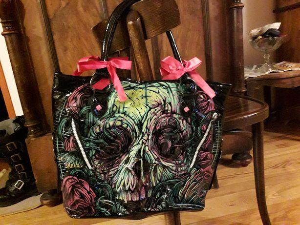 Iron Fist duża torebka prawie nowa, oryginalna Goth Alternative
