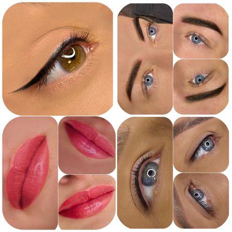 Перманентный макияж(татуаж) брови,веки,губы