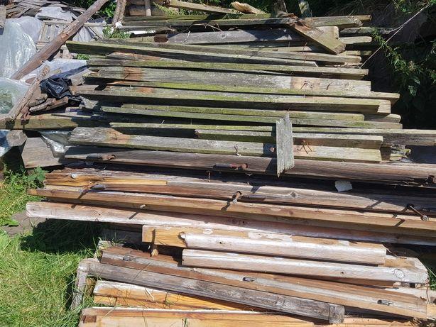 Drewno z rozbiórki,  sztachety