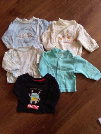 Zestaw 5 bluzek z długim rękawem dla niemowlaka- gratisy, wyprawka