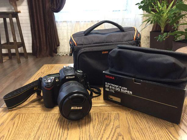 Набір Nikon D-90 (18-105 kit), вспишка Sigma EF-610 DG Super + сумка