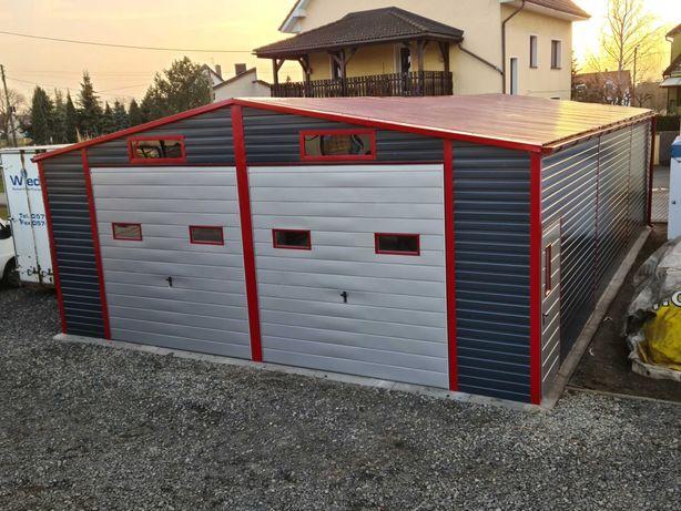 Hala garaż blaszany 8x12 bramy