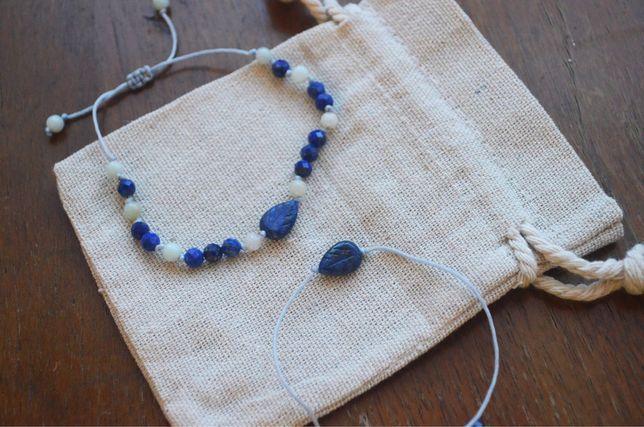 Bransoletka Lapis Lazuli + amazonit.