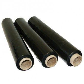 Стрейч плівка чорного кольору 300м, плотність 20мкн, гарної якості