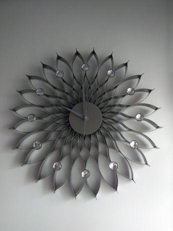 Nowy zegar ścienny oryginalny unikat glamour diamenty mandala słońce