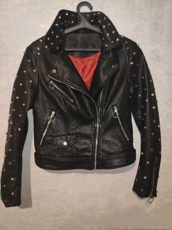 Байкерская куртка косуха женская панк куртка бомбер Biker Jacket