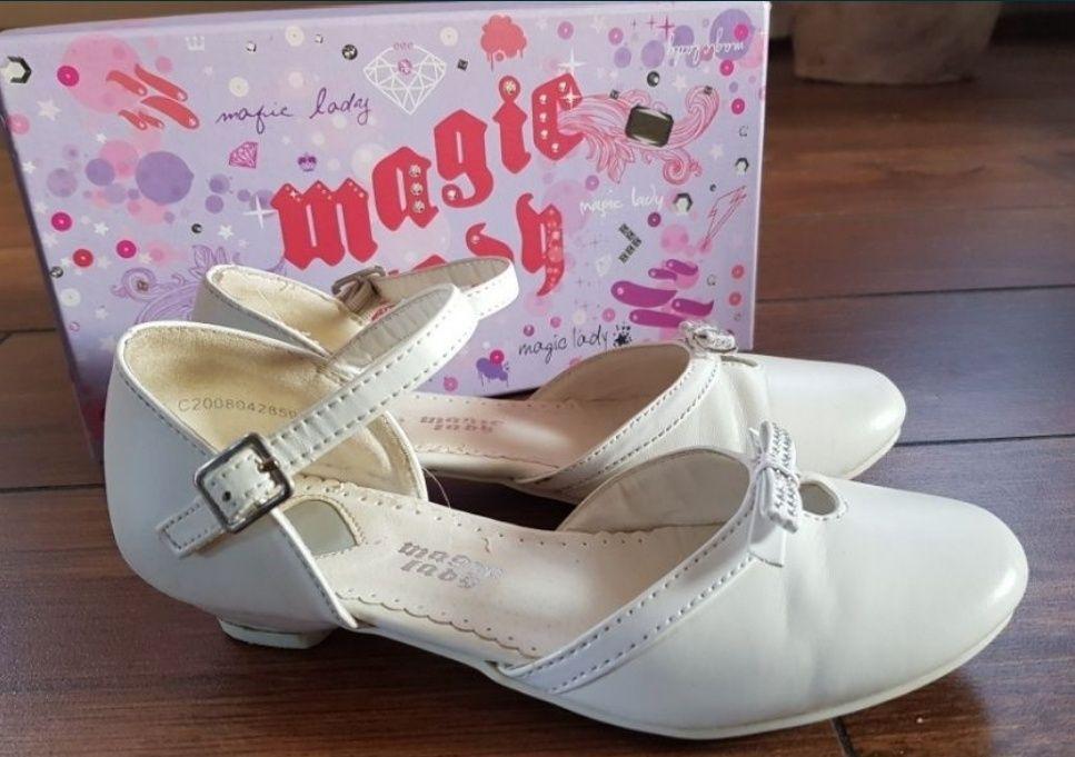 Buciki buty na komunie białe roz 34