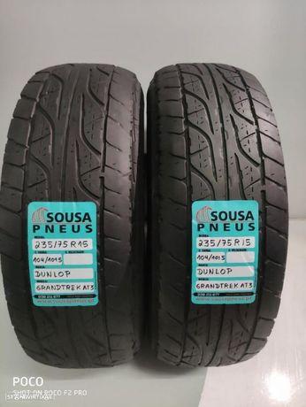 2 pneus semi novos Dunlop 235-75-15 Oferta dos Portes