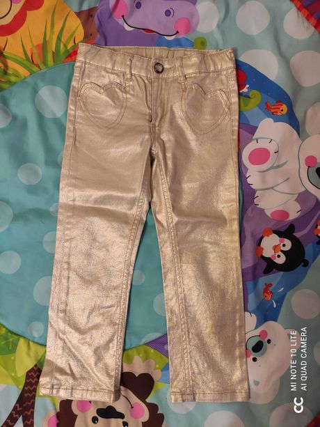 Джинсы штаны  золотые H&M