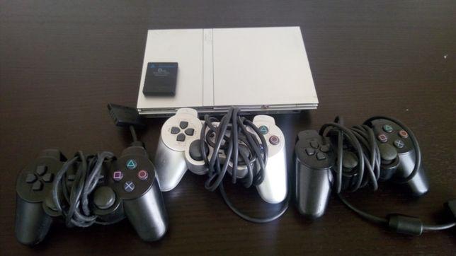 PlayStation 2 prateada PS2
