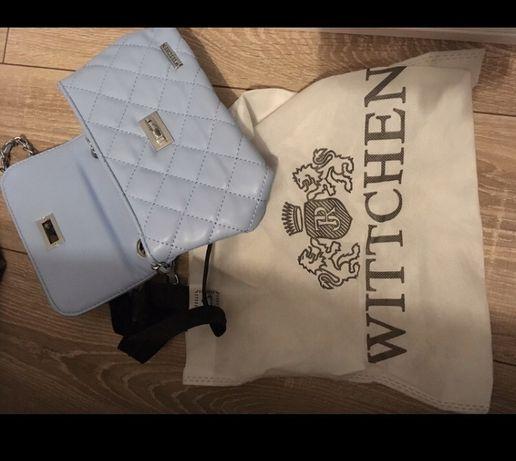 Wittchen pikowana torebka błękit mała