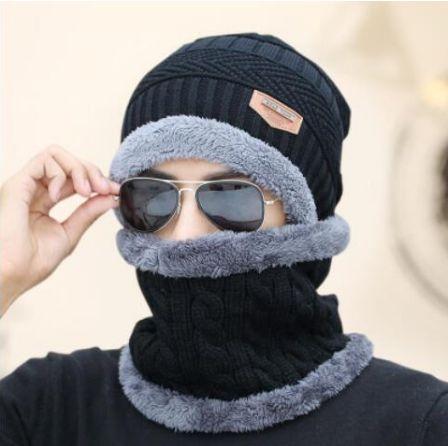 Шапка + хомут в ПОДАРОК унисекс шапка набор вязаная шапка