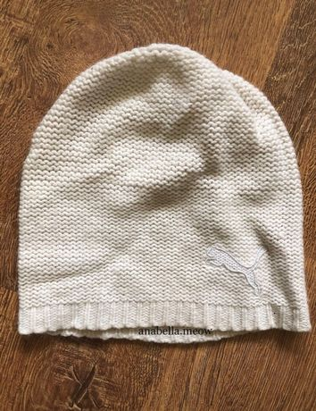Kremowa czapka zimowa Puma