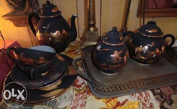Serviço de chá chinês antigo para 2 pessoas