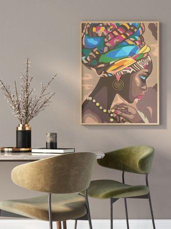 Картина интерьерная, декор, африканка